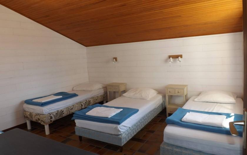 """Location de vacances - Villa à Vielle-Saint-Girons - Chambre n°3 dite """"enfants"""" avec 4 couchages en 90 cm"""
