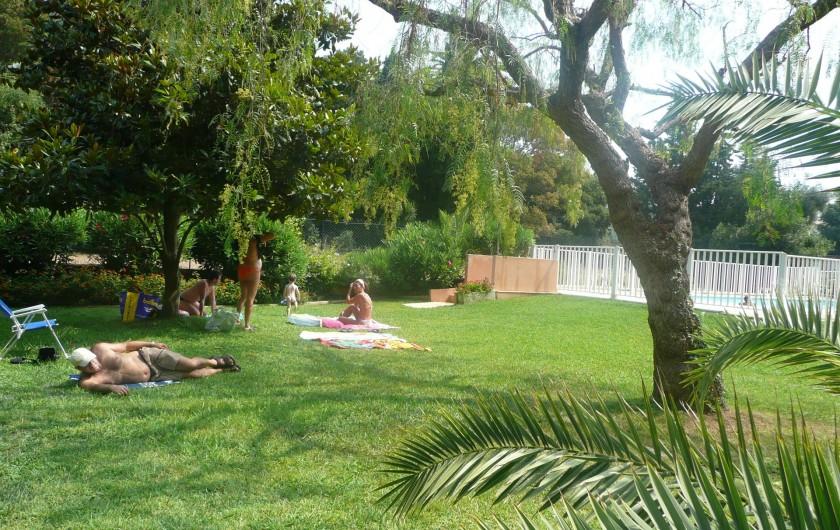 Location de vacances - Appartement à Juan les Pins - le jardin de la piscine