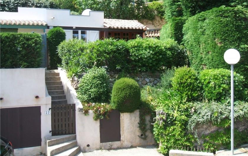 Location de vacances - Mas à La Croix-Valmer - Jardinet