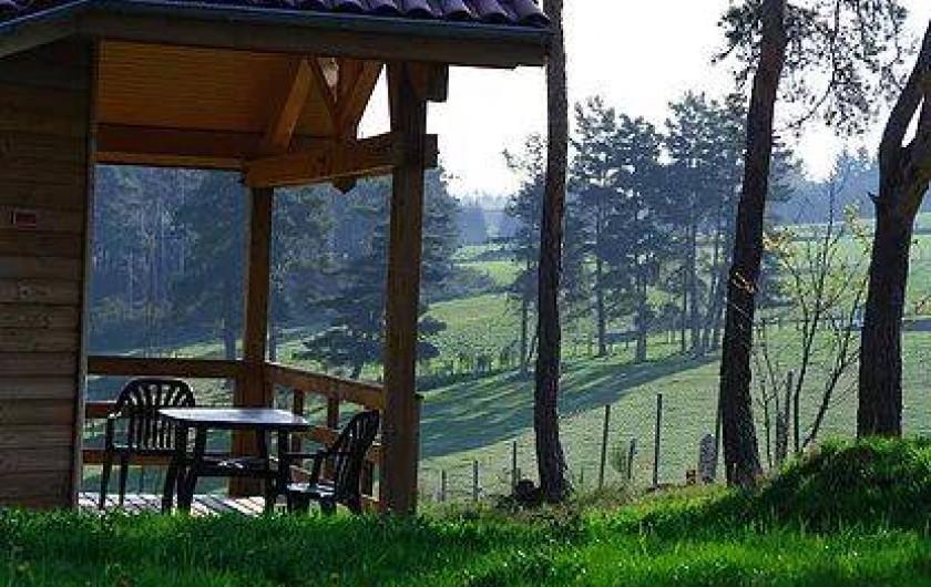 Location de vacances - Chalet à Boisset - Terrasse extérieure