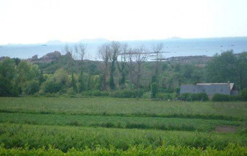 Location de vacances - Villa à Penvénan - VUE MER DE LA SALLE A MANGER