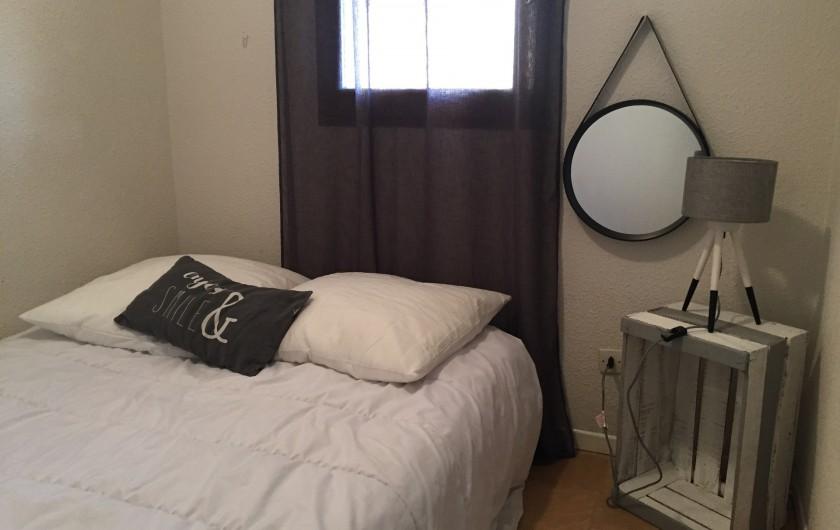 Location de vacances - Appartement à Sète - chambre 1 avec lit 140