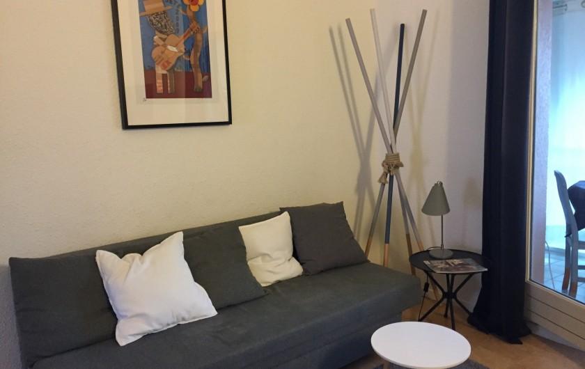 Location de vacances - Appartement à Sète - coin salon