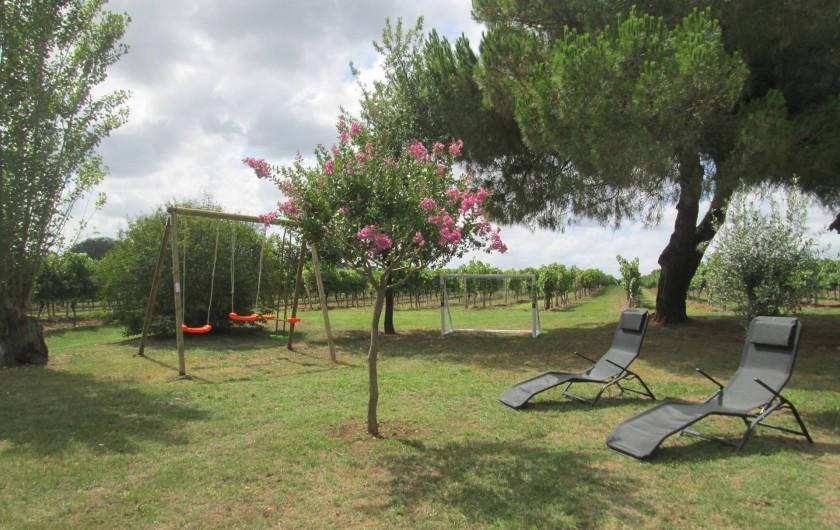 Location de vacances - Gîte à Gondrin - Jardin, jeux pour enfants