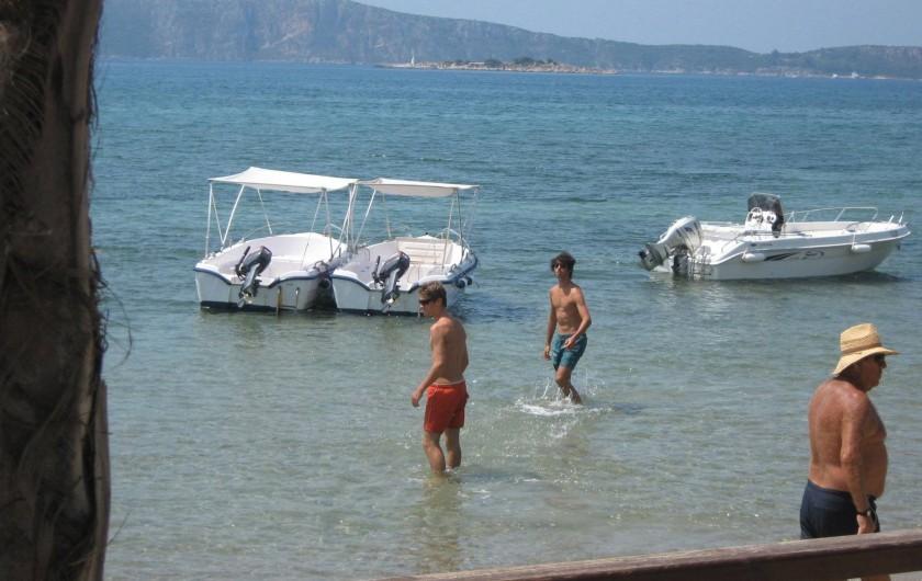 Location de vacances - Chalet à Kakovatos - SORTIE BATEAU /BAIE NAVARIN