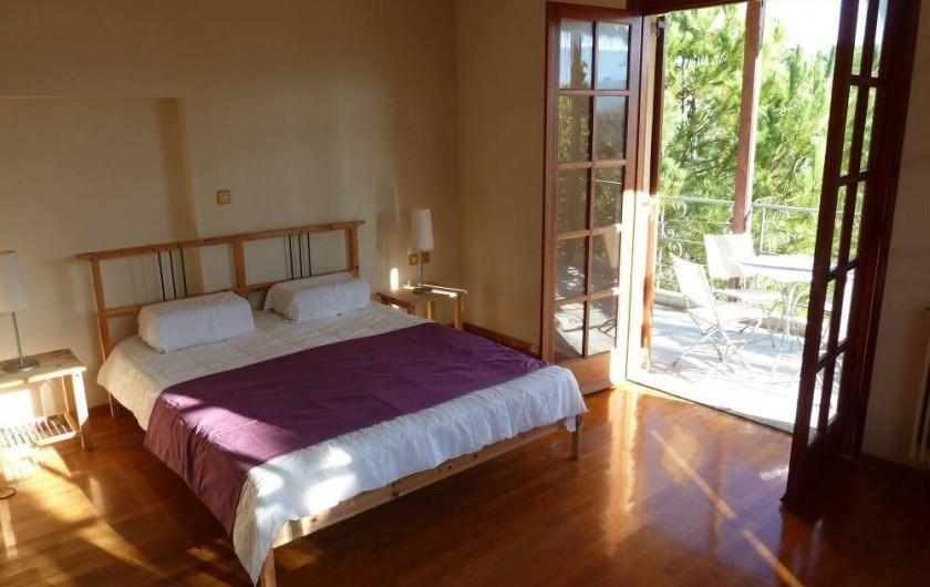 Location de vacances - Chalet à Kakovatos - CHAMBRE COUPLE 24M2 /LIT KING SIZE