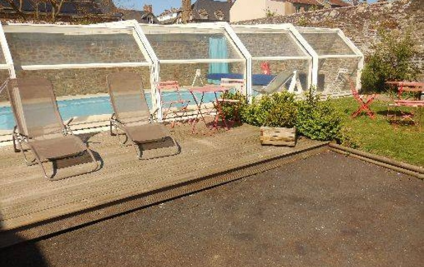 Location de vacances - Maison - Villa à Pontorson - Piscine couverte chauffée à 30°