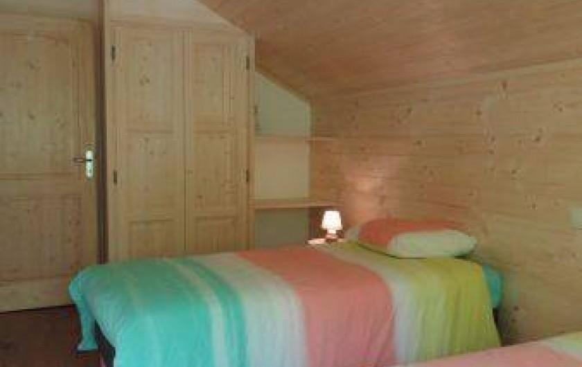 Location de vacances - Appartement à Les Gras - chambre avec 2 lits de 90