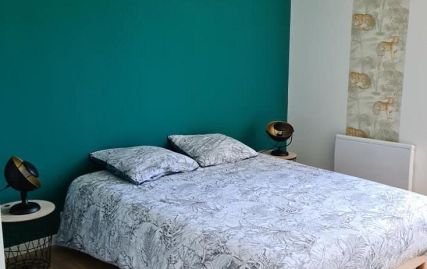 Location de vacances - Gîte à Bournezeau - Chambre jungle 1 lit double