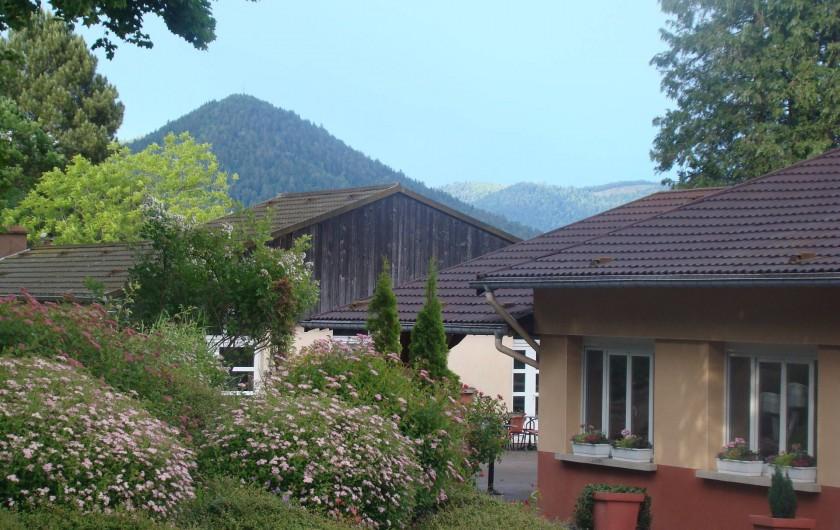 Location de vacances - Chalet à Senones - Vue dégagée sur les montagnes vosgiennes