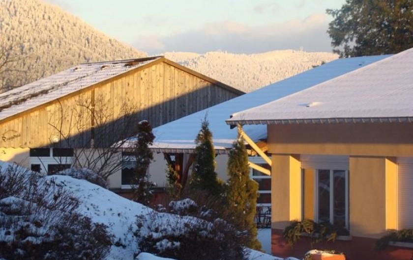 Location de vacances - Chalet à Senones - La neige au rendez vous chaque hiver