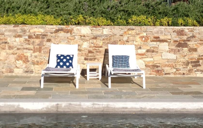 Location de vacances - Villa à Sainte-Maxime - terrasse piscine