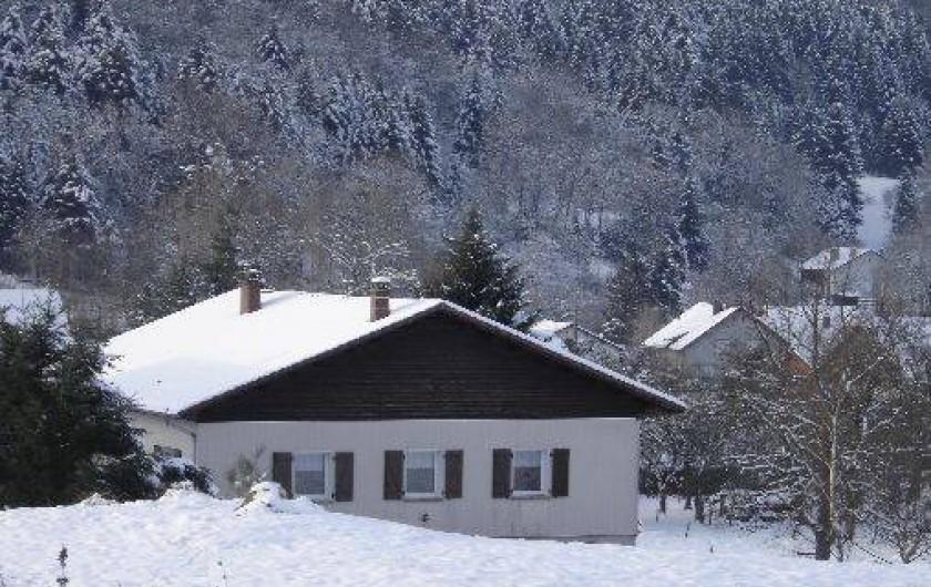 Location de vacances - Maison - Villa à Ban-sur-Meurthe-Clefcy - Coté forêt et prairie hiver