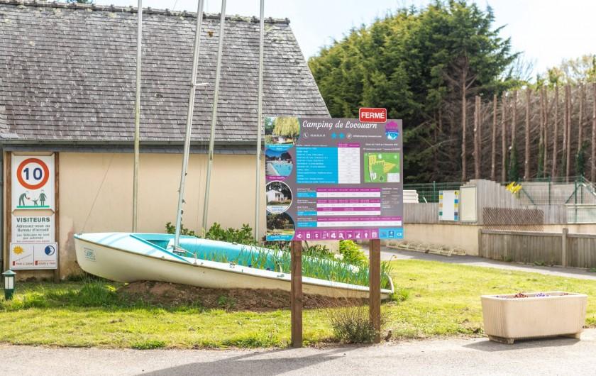 Location de vacances - Camping à Clohars-Carnoët - L'arrivée
