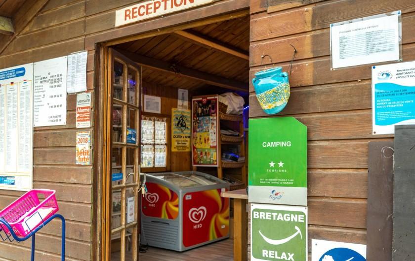 Location de vacances - Camping à Clohars-Carnoët - L'accueil