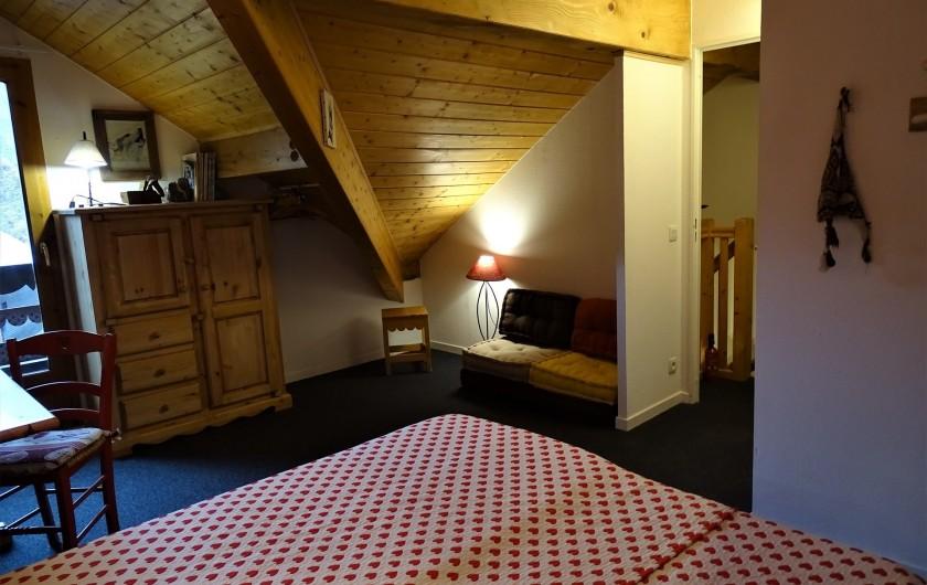 Location de vacances - Appartement à Station de Risoul 1850 - Grande chambre du Lynx