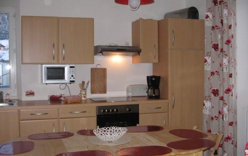Location de vacances - Gîte à Malbuisson - cuisine gite 8 personnes