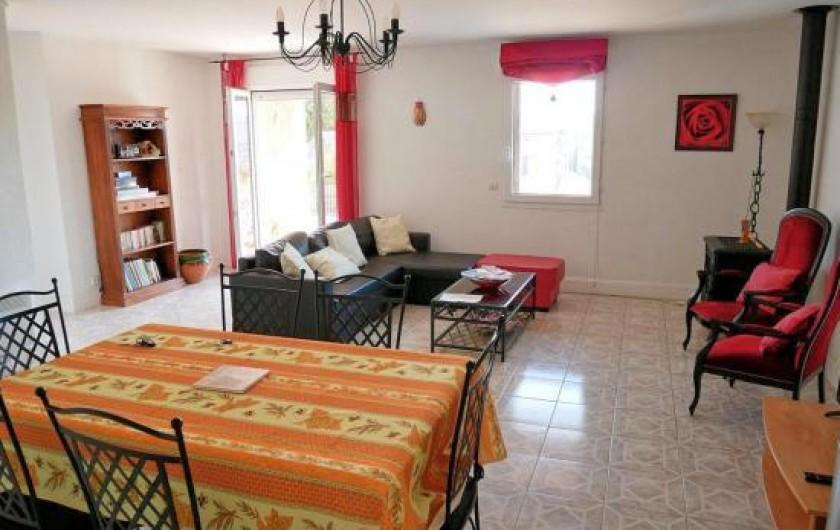 Location de vacances - Villa à Les Granges-Gontardes - Pièce de vie