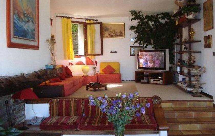 Location de vacances - Villa à Erbalunga - Salon Télé