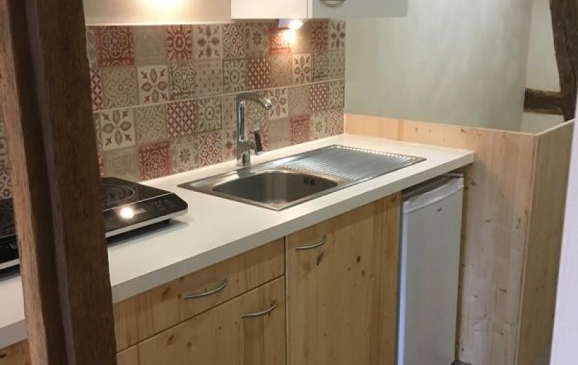Location de vacances - Studio à Belles-Forêts - Cuisine équipée, petit frigo,  plaque induction, cafetière...
