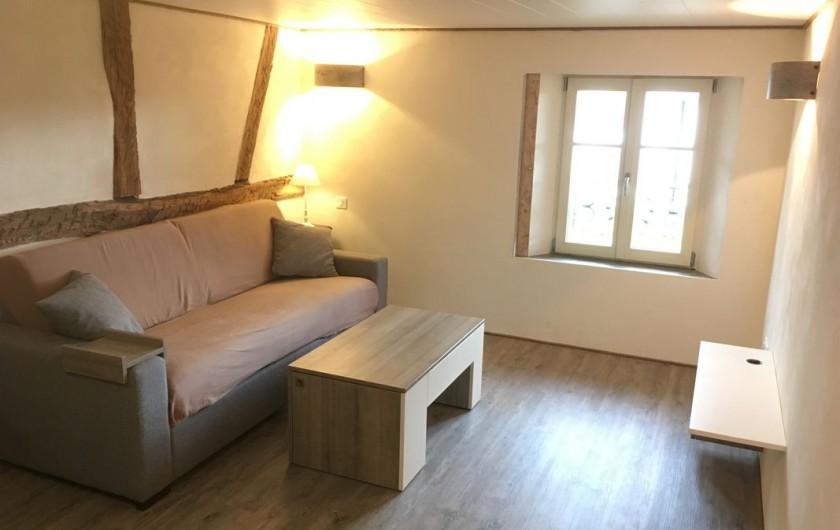 Location de vacances - Studio à Belles-Forêts - Canapé lit confortable dimension 160/200