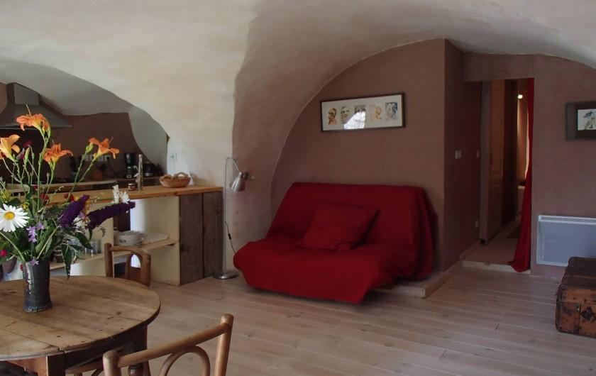 Location de vacances - Gîte à Chorges - Séjour avec futon (deux couchages supplémentaires)