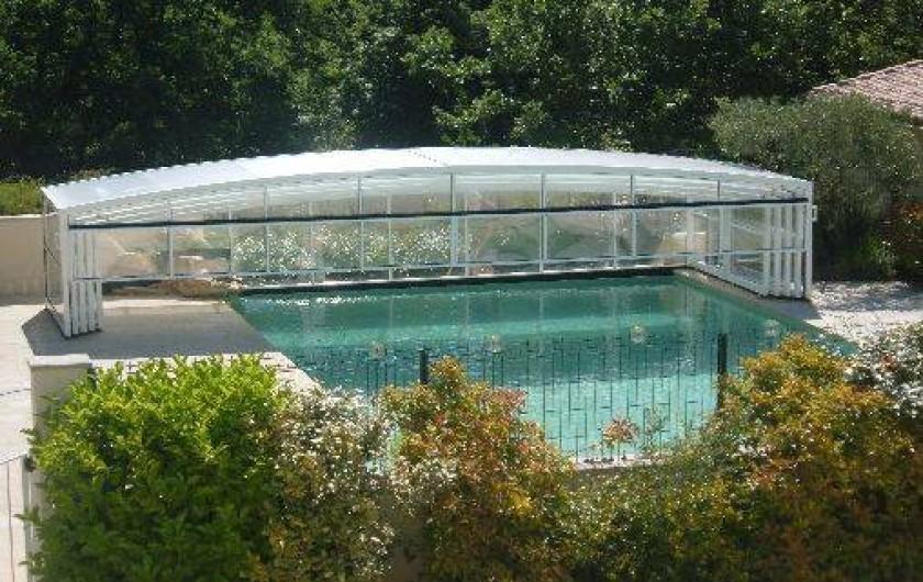 Location de vacances - Gîte à Saint-Romain-en-Viennois - Piscine à débordement de 66 m2 découverte