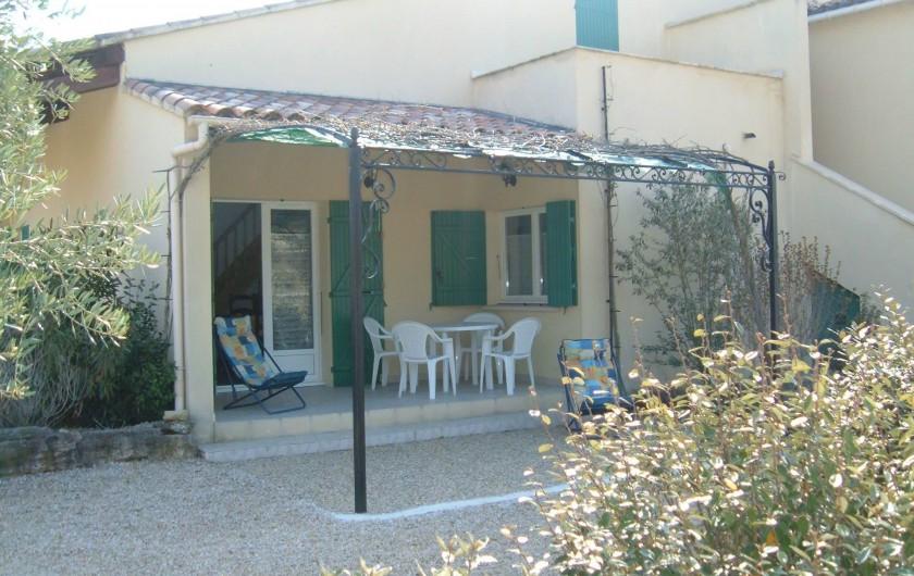 Location de vacances - Gîte à Saint-Romain-en-Viennois - Terrasse Gite 1