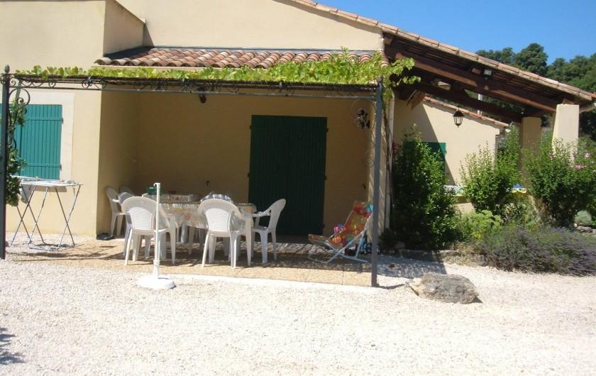 Location de vacances - Gîte à Saint-Romain-en-Viennois - Terrasse Gite 4