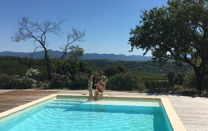 Location de vacances - Mas à Valréas - La piscine