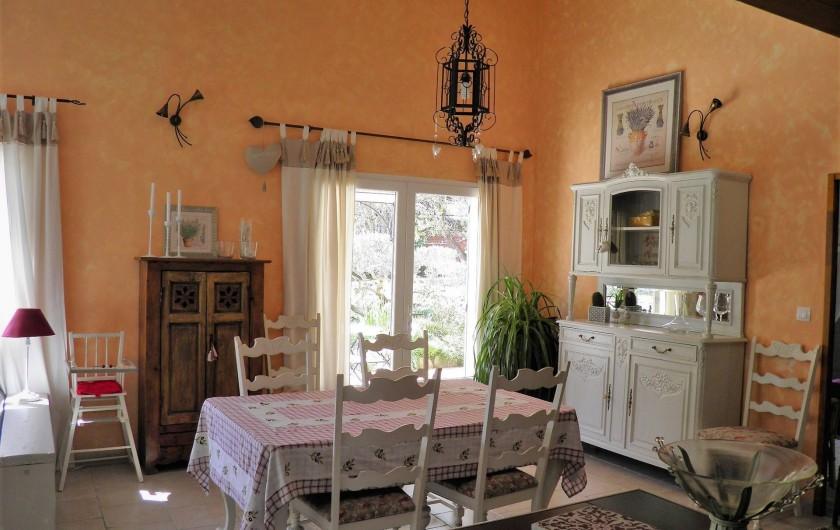 Location de vacances - Villa à Saint-Michel-d'Euzet - Chambre  2 avec lit en 180