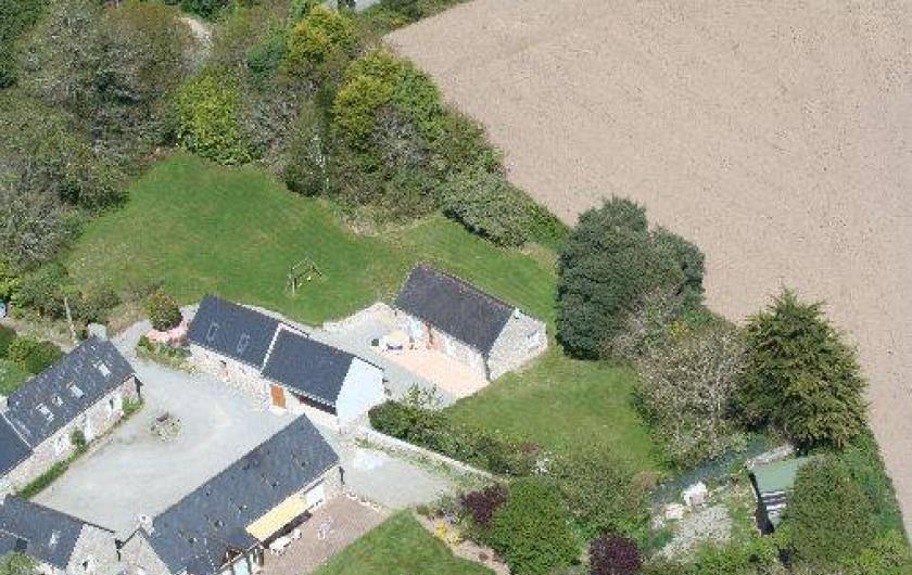 Location de vacances - Gîte à Bénodet - Vue aérienne de l'ancienne ferme