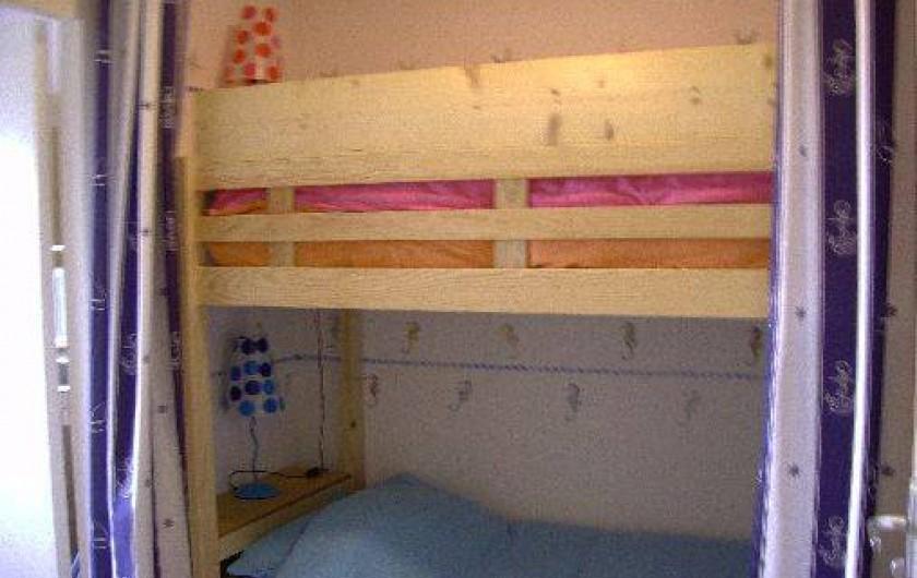 Location de vacances - Appartement à La Barre-de-Monts - Espace cabine avec lit superposés