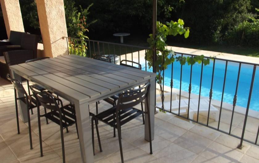 Location de vacances - Villa à Salernes - Terrasse1