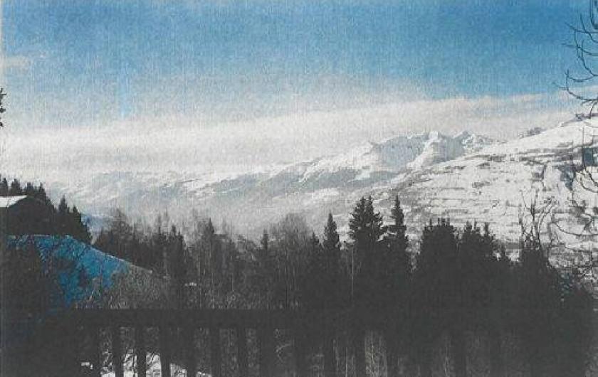 Location de vacances - Chalet à Les Arcs - Vue de la terrasse du  salon