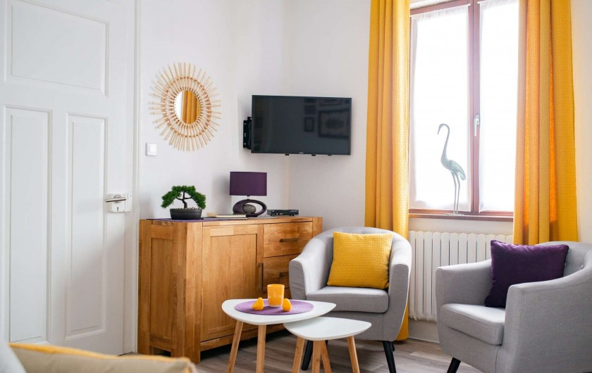 Location de vacances - Gîte à Muttersholtz - Salon TV-Wifi