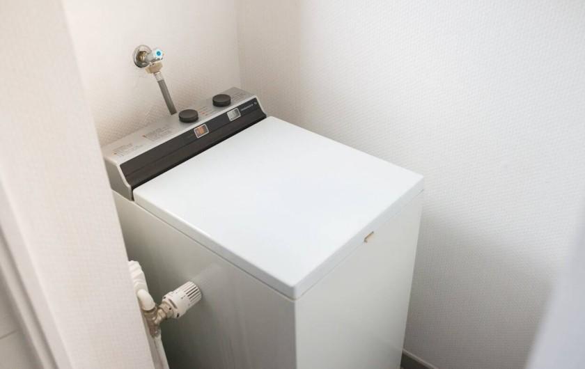 Location de vacances - Gîte à Muttersholtz - Machine à laver