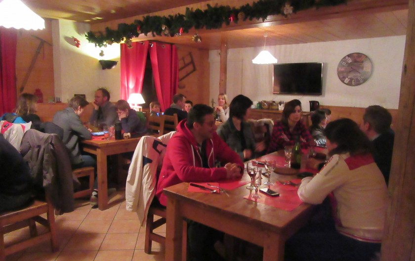 Location de vacances - Hôtel - Auberge à Saint-François-Longchamp - Salle de repas