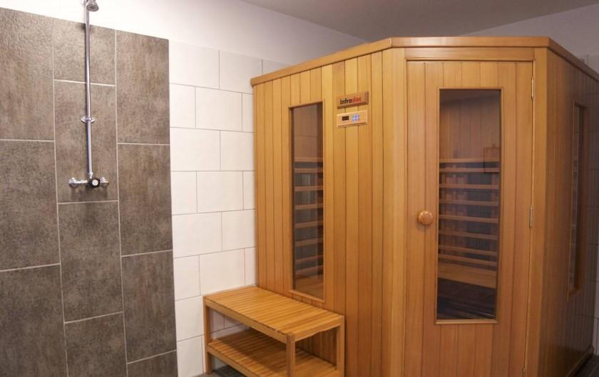 Location de vacances - Villa à Maubec - Sauna infra-rouge 4-5 places