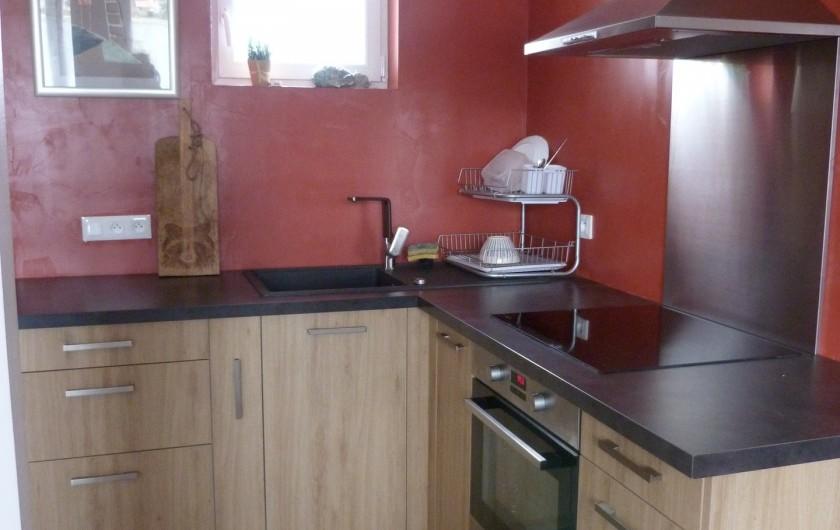 Location de vacances - Appartement à Granges-sur-Vologne - Cuisine au Rez de Chaussée plaque induction, four