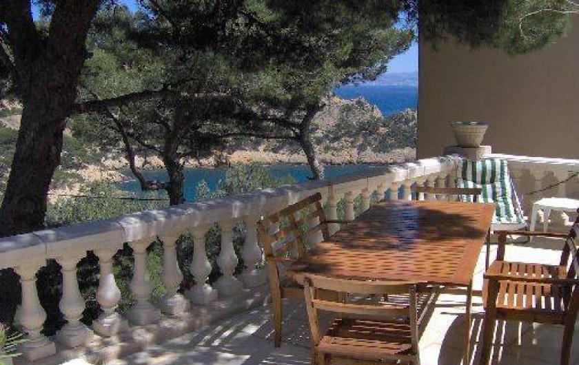 Location de vacances - Villa à Ensuès-la-Redonne - Terrasse du haut