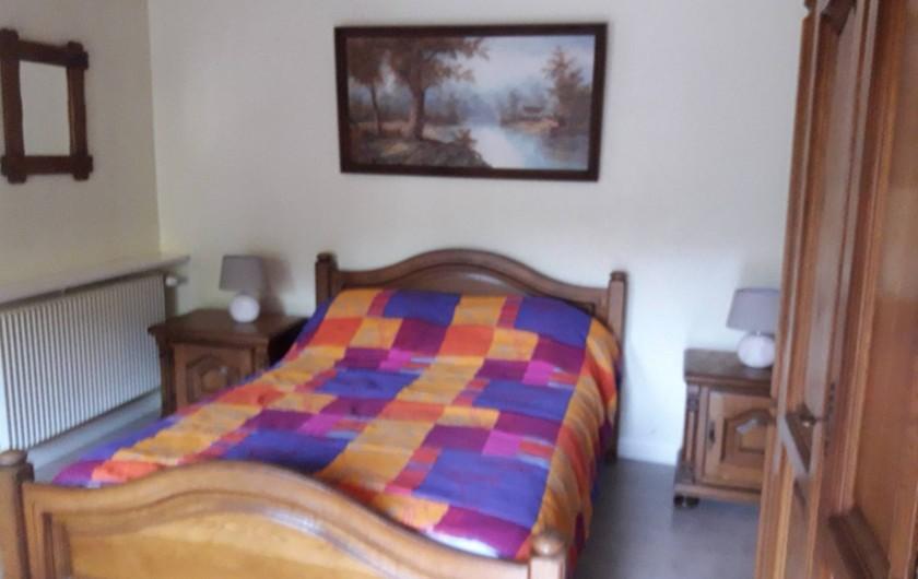 Location de vacances - Gîte à Cornimont - chambre au rdc avec 1 lit de 140 + 1 lit de 90