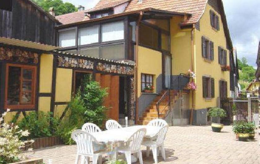 Location de vacances - Appartement à Sondernach - Jardin