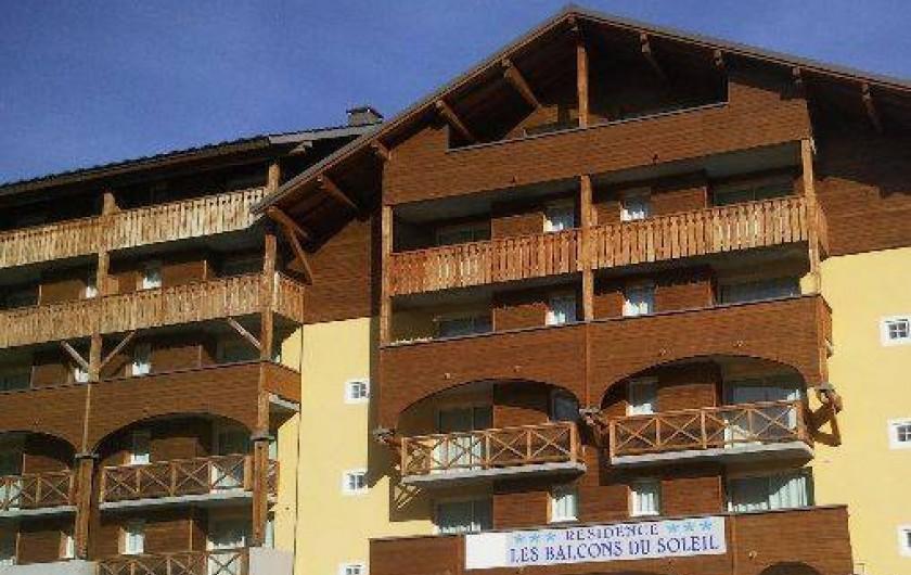 Location de vacances - Appartement à La Foux d'Allos - L'entrée, l'été