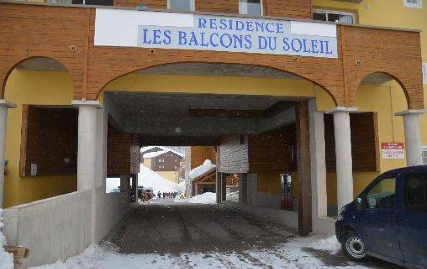 Location de vacances - Appartement à La Foux d'Allos - Passage voiture