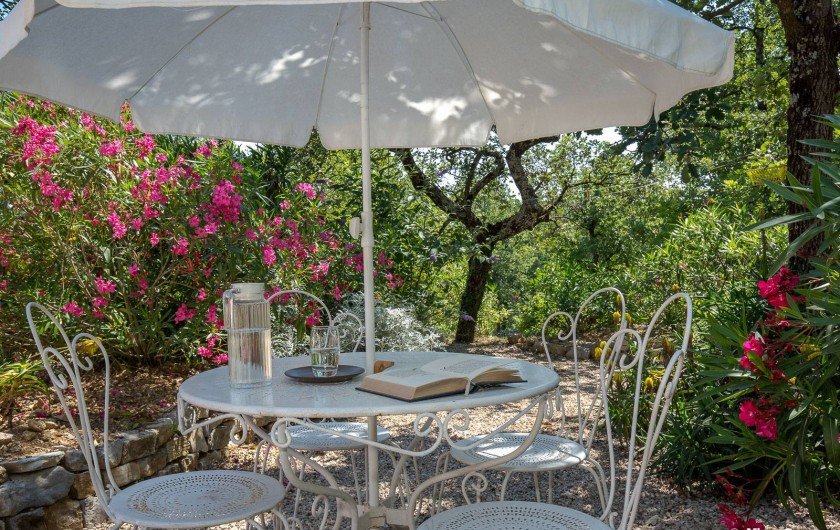 Location de vacances - Villa à Fayence - lecture au jardin