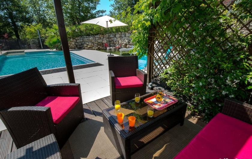 Location de vacances - Villa à Fayence - sous la pergola