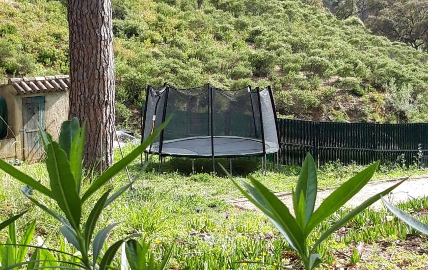 Location de vacances - Chalet à Sainte-Maxime - la trampoline
