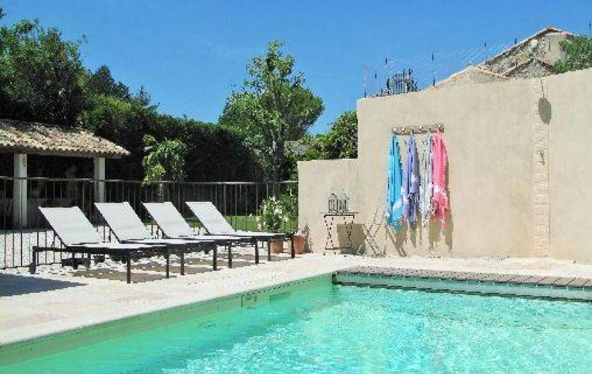 Location de vacances - Chambre d'hôtes à Loriol-du-Comtat - La Piscine chauffée en saison et sécurisée