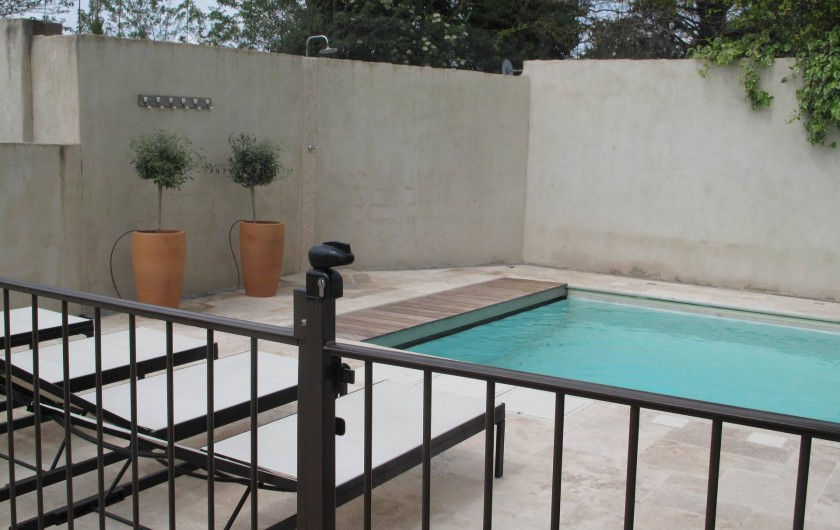 Location de vacances - Chambre d'hôtes à Loriol-du-Comtat - La Piscine, la plage et la sécurité enfants